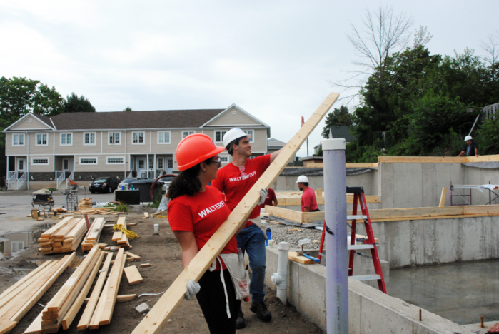 WalterFedy employees at Habitat for Humanity