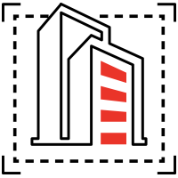 Icon depicting achitecture