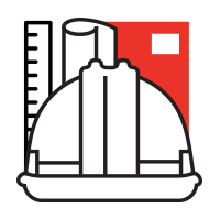 Icon depicting building engineering